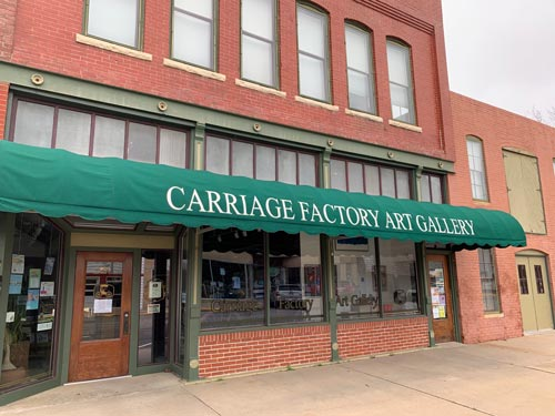 Carriage Factory Art Gallery storefront