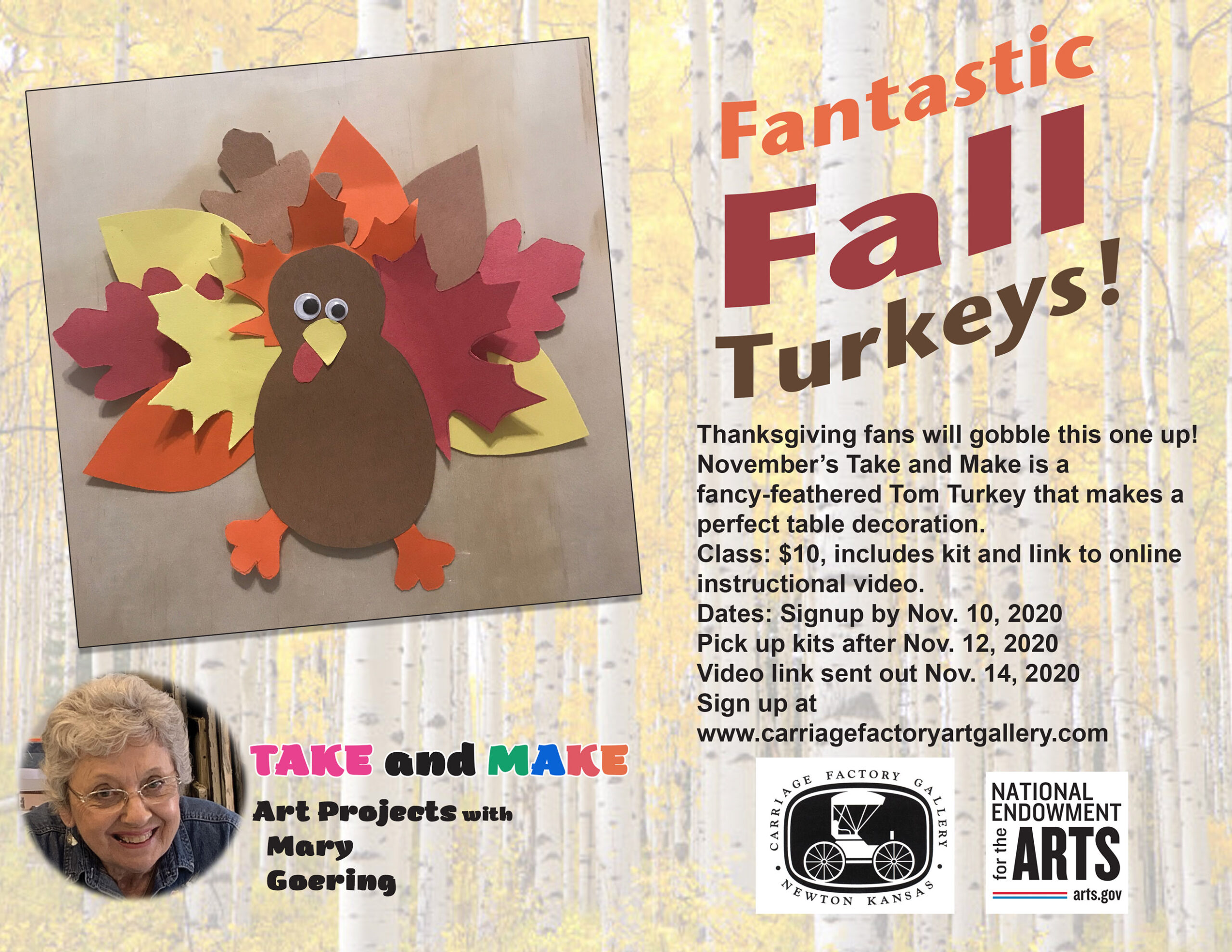 Nov Take n make turkey info