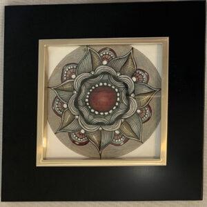 red stone zendala painting