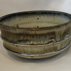 muted glazed pottery bowl