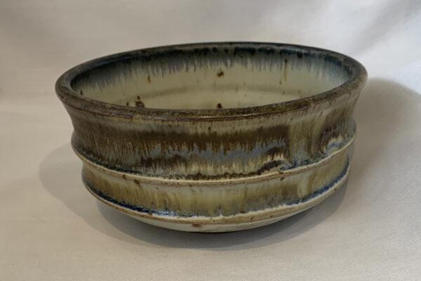 muted glazed pottery bowl